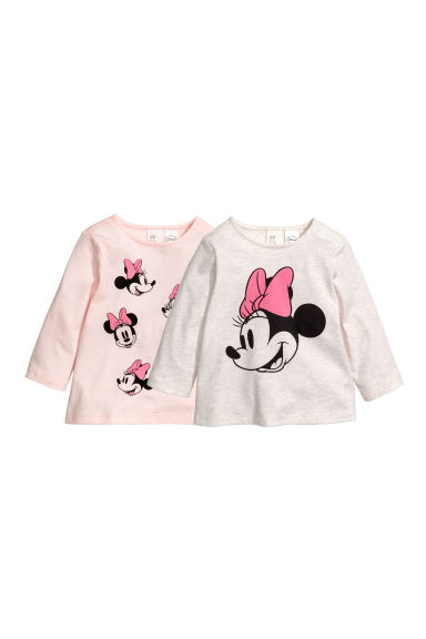 Set van 2 tricot T-shirts - Roze/Minnie Mouse -  | H&M BE