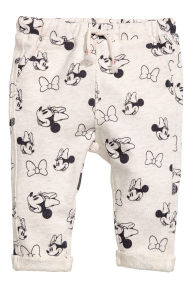 Pantalon jogger à motif - Gris clair chiné/Minnie -  | H&M BE