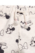 Patterned joggers - Light grey marl/Minnie Mouse -  | H&M 2