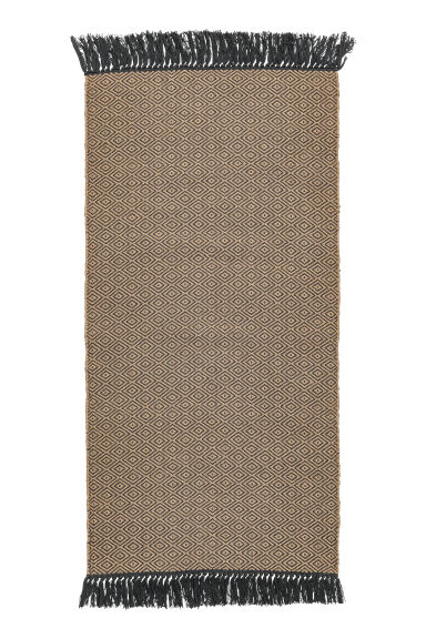 Jacquardgeweven mat - Naturel/antracietgrijs - HOME | H&M BE 1