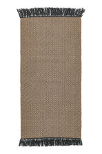 Jacquard-weave rug - Natural/Anthracite grey - Home All | H&M GB 1