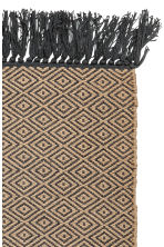Jacquard-weave rug - Natural/Anthracite grey - Home All | H&M GB 2
