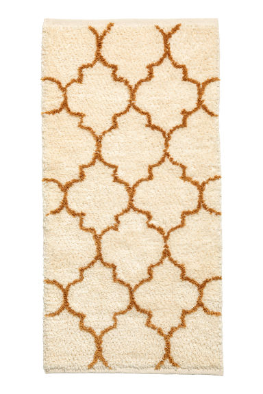 Wool-blend rug - Natural white/Ochre - Home All | H&M CN 1