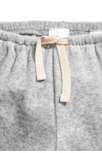 Cotton velour trousers - Grey marl - Kids | H&M CN 2