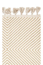 Glittery cotton rug - White/Gold-coloured - Home All | H&M GB 2