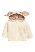 Pattern-knit cardigan - Light beige - Kids | H&M 1