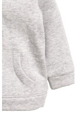 Hooded cotton jacket - Light grey marl -  | H&M 3