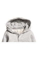 Hooded cotton jacket - Light grey marl -  | H&M 2