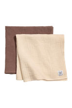 2-pack comfort blankets - Mole -  | H&M 2