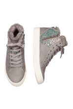 Pile-lined High Tops - Light gray -  | H&M CA 2