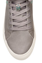 Pile-lined High Tops - Light gray -  | H&M CA 3