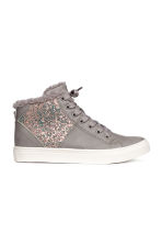 Pile-lined High Tops - Light gray -  | H&M CA 1