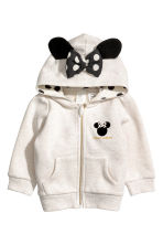 Hooded Jacket with Appliqués - Light beige - Kids | H&M CA 1
