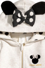 Hooded Jacket with Appliqués - Light beige - Kids | H&M CA 2