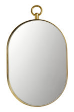 Oval mirror - Gold-coloured - Home All | H&M IE 1