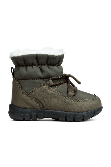 Warm-lined winter boots - Khaki green - Kids | H&M GB