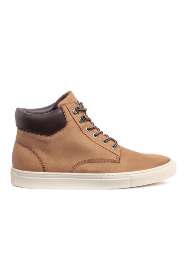 Hi-top trainers - Dark beige -  | H&M