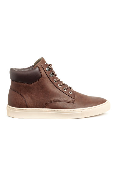 Hi-top trainers - Dark brown - Men | H&M 1