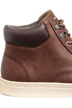 Hi-top trainers - Dark brown - Men | H&M 4