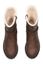 Pile-lined boots - Dark brown - Kids | H&M CN 2