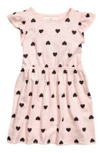 荷葉袖洋裝 - Light pink/Heart -  | H&M 2