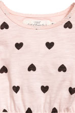 荷葉袖洋裝 - Light pink/Heart -  | H&M 3