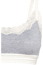 Soft ribbed microfibre bra top - Grey marl - Ladies | H&M 3