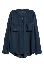 Crêpe blouse - Dark blue - Ladies | H&M CN 2
