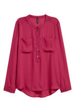 Crêpe blouse - Raspberry red - Ladies | H&M 2