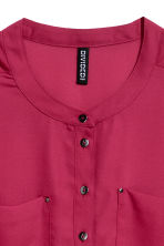 Crêpe blouse - Raspberry red - Ladies | H&M 3