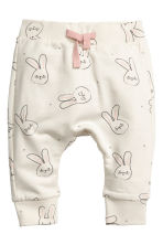 Sweatshirt and trousers - Natural white/Rabbits - Kids | H&M 2