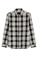 Cotton shirt Regular fit - White/Black checked - Men | H&M 2