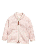 絨毛針織外套 - Light pink marl - Kids | H&M 1