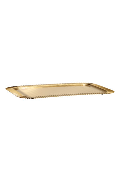 Metal tray - Gold-coloured -  | H&M IE
