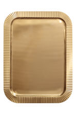 Metal tray - Gold-coloured - Home All | H&M GB 2