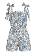 Patterned playsuit - Light beige/Floral - Ladies | H&M 2