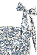 Patterned playsuit - Light beige/Floral - Ladies | H&M 3