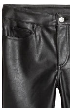 Imitation leather trousers - Black - Ladies | H&M CN 4
