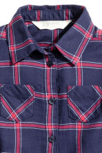 Shirt dress - Dark blue/Checked - Kids | H&M 2