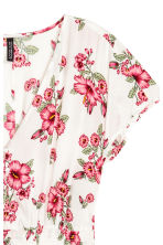 V-neck dress - White/Floral - Ladies | H&M IE 2