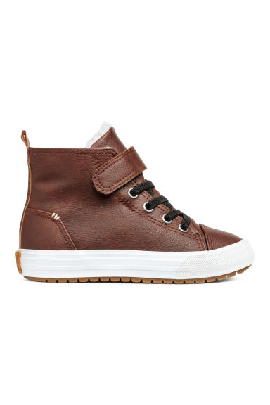 Pile-lined hi-tops - Brown -  | H&M 1