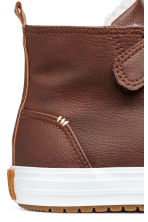 Pile-lined hi-tops - Brown -  | H&M 4