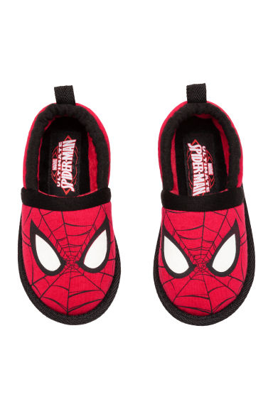 Soft slippers - Red/Spider-Man - Kids | H&M CN 1
