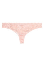 Lace Brazilian briefs - Powder pink - Ladies | H&M 2