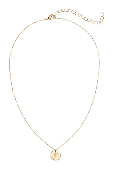 Necklace with letter pendant - F/Gold-coloured - Ladies | H&M