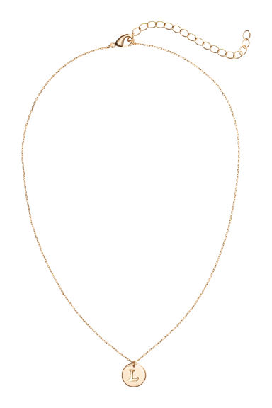 Necklace with letter pendant - L/Gold-coloured - Ladies | H&M CA 1