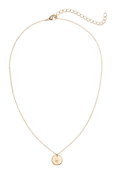 Necklace with letter pendant - V/Gold-coloured - Ladies | H&M