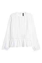 Blouse with lace details - White - Ladies | H&M 2