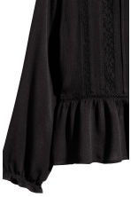 Blouse with lace details - Black - Ladies | H&M 3