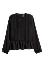 Blouse with lace details - Black - Ladies | H&M 2